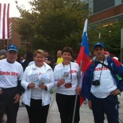 Команда «Дорога к Сочи-2014» на старте Балтиморского марафона