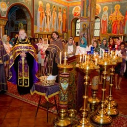 1. Во время молебна в соборе Св. Иоанна Предтечи 5 апреля 2011. Фото Татьяны Флойд